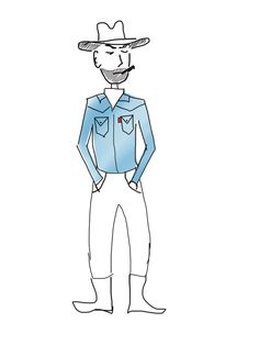 my sketch for the presentation of employee Levi's company