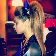 The higher the hair the closer to God! The higher the hair the closer to God! Cheerleading Jumps, Cheer Stunts, Cheer Dance, Cheer Ponytail, Cheer Hair, All Star Cheer, Cheer Mom, Cheer Pictures, Cheer Pics