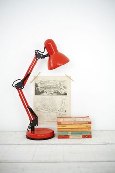 50 Flawless Examples of Industrial-Inspired Interior Design (Part - Airows Orange Desk Lamps, I Like Lamp, Cool Kitchen Appliances, Anglepoise Lamp, Office Accessories, Industrial Style, Interior Inspiration, Lights, Interior Design