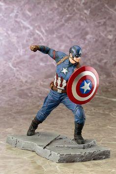 Captain America: Civil War - 1/10 - Captain America - Kotobukiya (Sep 2016) - US-Figuren - Japanshrine