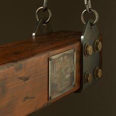 Timber-beam-LED-strip-light-plaque