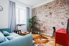 Zdjęcie numer 7 w galerii - Eklektyczne mieszkanie na warszawskiej Woli Zen Interiors, Home Salon, Brickwork, Brick Wall, Living Room, Interior Design, Bricks, Home Decor, Construction