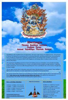 Vajrakiliya Dokpa (dispelling) Retreat – Riwotsegya Flourish, Holi, Day, Movie Posters, Canada, Film Poster, Holi Celebration, Billboard, Film Posters