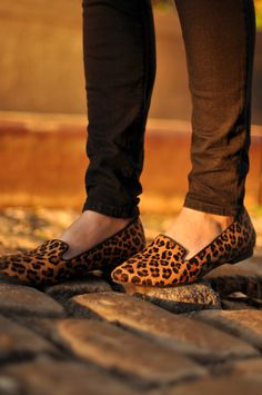 Animal print shoes are my new favorites and these are darling!