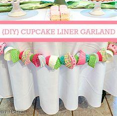 Cupcake Liner Garland, Sweet Shoppe Parties, Eiffel Tower Cupcakes!