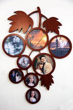 Lasercuts Ltd: Wooden Collage Frames Frame Wall Collage, Frames On Wall, Wooden Frames, Diy Photo Frame Cardboard, Marco Diy, Silver Wall Clock, Gravure Laser, Cd R, Photo Frame Design