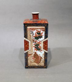 Imari square wine bottle