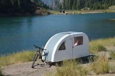 Wide Path Camper Camping Trailer is Designed for Bikes Mini Bike, Mini Moto, Slide In Camper, Tiny Camper, Eco Casas, Bike Motor, Used Campers, Weekend House, Wonderful Picture
