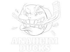 Printable Anaheim Ducks Coloring Sheet