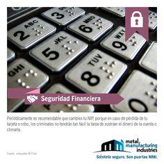 ¡Buen viernes! Hoy que algunos recibimos nuestros salario vía tarjeta de nómina, aplica perfecto este tip de #Seguridad Financiera.