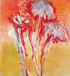 "Katherine Kadish,   ""High Summer 3""   Monotype,   25 1/2 x 24 inches"