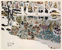 Bishop's Pond (Reflections) by David Milne Canadian Painters, Canadian Artists, Landscape Art, Landscape Paintings, Landscapes, Illustrations, Illustration Art, David Milne, Indigenous Art