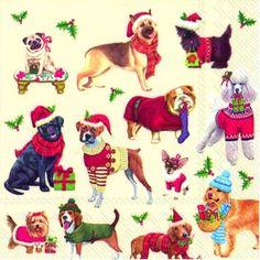 3139 Servilleta decorada Navidad