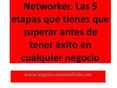 Networker. Las 5 etapas que tienes que superar antes de tener éxito en cualquier negocio. by Angeles Cuevas via slideshare