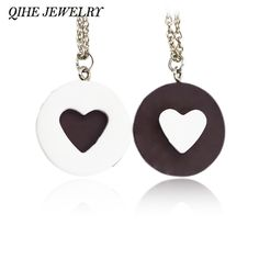 2pcs/set Resin Black Chocolat Cookie Necklace Puzzle Food Design Men Women Best Friend BFF Forever Friendship Lover Gifts  Price: 1.38 USD