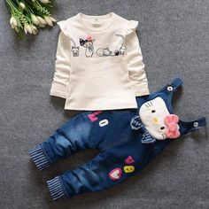 💝Set for Girls Hello Kitty Denim Overalls Jeans Pants + Blouse Long Sleeve💝 Limited Stock!!! Tag Dad, Uncles or Grandparents to get one for your sweet baby   🎁Order Now ----> https://www.babies-4you.com/products/shoes-first-walkers-baby-girl-soft-sole-canvas #KidsOMG #cute #babies #babyfashion