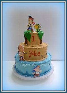 jake and the neverland pirates cakes | Jake & the Neverland Pirates 1st b'day