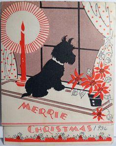 Vintage Scottie Christmas Greetings
