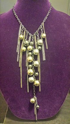 FREE SHIPPING until 11/30/15! https://www.etsy.com/listing/209342149/wrecking-balls-long-statement-necklace