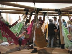 formosa decelerator - hammock chairs,bamboo structure,Art'unlimited Basel 2015,brazilian artist Opavivarai, a gentil carioca, Rio de Janeiro