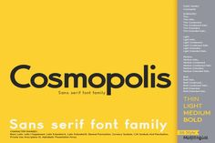 Cosmopolis - Sans serif font family #sansserif #sansseriffont #sansserifdisplay