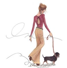 The Sketch Book – Inslee Haynes / Fashion Illustration by Inslee / Page 16 on imgfave Arte Dachshund, Dachshund Love, Daschund, Cream Dachshund, Fashion Artwork, Delphine, Weenie Dogs, Cool Sketches, Fashion Sketches