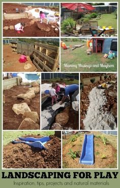 Landscaping natural playspaces for children - Tips, inspiration, project ideas and our progress over the last year. Mummy Musings and Mayhem