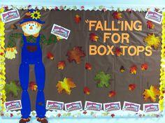 Fall themed box tops for education bulletin board