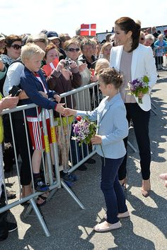 Princess Isabella of Denmark aged 8 years old, carries out first official engagement