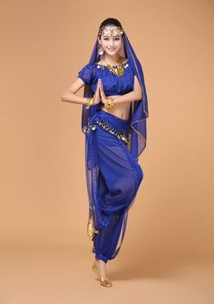 4pcs Belly Dance Costume Bollywood Costume Indian Gypsy Dress Bellydance Dress Womens Belly Dancing Costume Sets Tribal Skirt