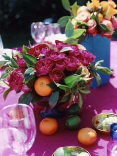 Flowers, Reception, Pink, Centerpiece, Wedding, Mexican, Indian