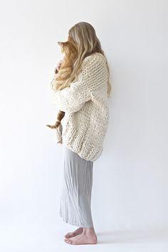 DIY Strick-Kit für schicken Cardigan enthält Anleitung und Material / DIY knitting kit for trendy cardigan by lebenslustiger-com via DaWanda.com
