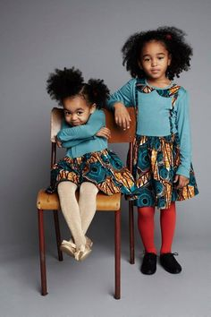 Vêtements wax et pagnes robes Isossy Children
