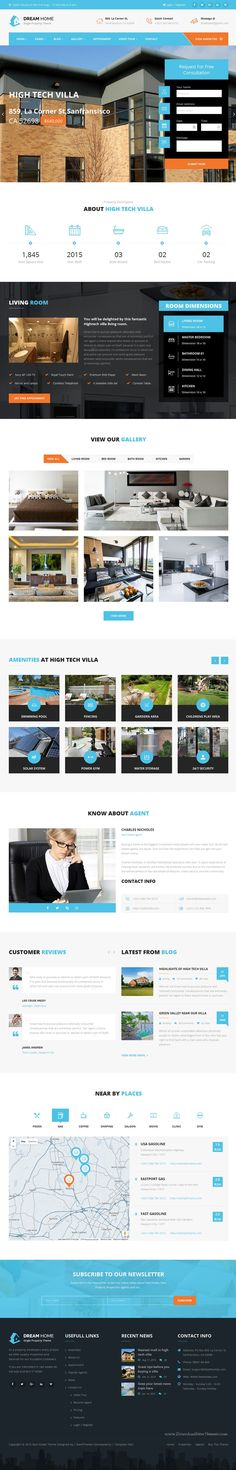 DREAM HOME is wonderful Single Property #RealEstate Bootstrap HTML Template. #website Download Now!