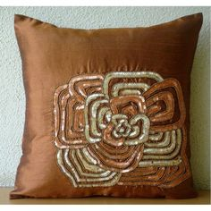Luxury Rust Pillow Covers, Tropical Floral Pillow Covers,... https://www.amazon.com/dp/B005YMNDWG/ref=cm_sw_r_pi_dp_x_6YwqybMWX71WH