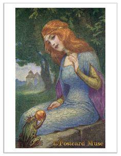 Princess and The Frog Vintage Postcard