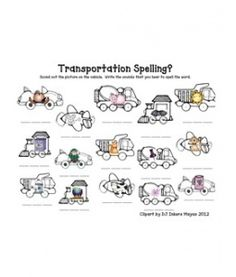 CVC transportation spelling