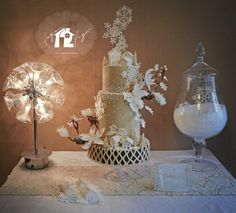 """Come home in winter"" Wedding cake  - Cake by Daniel Diéguez"