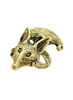 Retro Gold Fox Ring - Sheinside.com