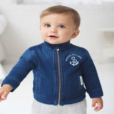 Boys denim jacket – ukookoo Boys Denim Jacket, Classic Outfits, Little Boys, Boy Outfits, Hoodies, Stylish, Sweaters, Cotton, Baby