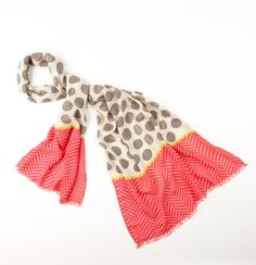 Polka Dot Herringbone Scarf - We love the playfully graphic vibe of this herringbone weave style—polka dots mingle with zigzag stripes for an incredibly cute combination. Brown Fashion, Cute Fashion, Autumn Fashion, Fashion Outfits, Polka Dot Scarf, Polka Dots, Oversized Scarf, Mixing Prints, Scarf Styles