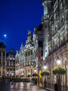 Brussels by night, Belgium