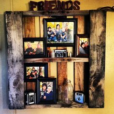 Wooden Pallet Wall Shelves to Show Family Pictures - Decoist