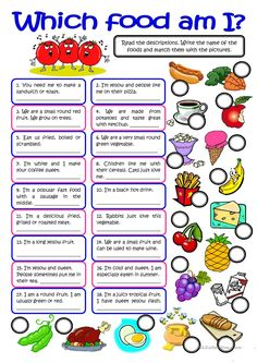 WHICH FOOD AM I? - vocabulary practice - English ESL Worksheets for distance learning and physical classrooms English Games, English Activities, English Grammar Online, English Lessons, Learn English, English English, French Lessons, Spanish Lessons, Learn French