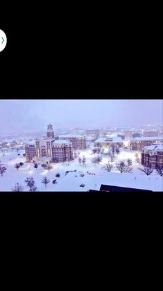 Texas Tech University Campus in February 2015 snow storm!