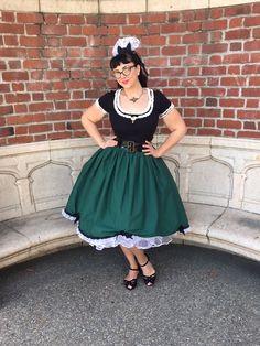 """My Haunted Mansion """"Ghost-ess"""" skirt for Mickey's-Not-So-Scary Halloween Party bound! Get it from NerdBound!  http://www.strangegirl.com/2016/…/08/disney-bound-nerdbound/"""
