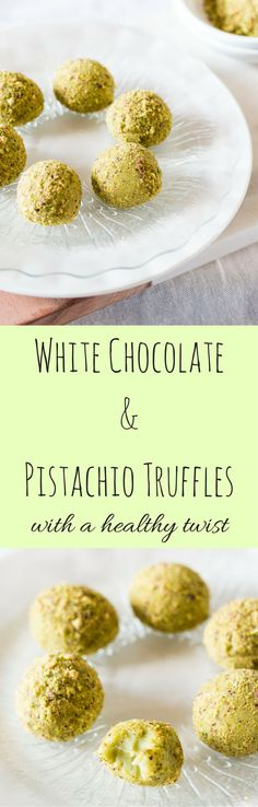 Sink your teeth into these amazingly creamy and decadent, yet healthy, white chocolate and pistachio truffles. Perfect for young and old. via @wholefoodbellies
