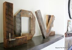Upcycloed Rustic LOVE Letters