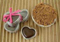 Chocolate lip balm with cocoa powder