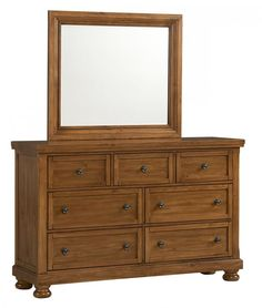 Reflect Pine Dresser & Mirror $947.77 Sku:141421 Dimensions:65Wx19Dx79H The Reflect Collection maintains an air of regal splendor and classic luxury. Meticulous craftsmanship exudes every piece with a Made in USA spirit and attitude. Retreat and relax in your calm surroundings every night while you enjoy the character and warmth of your USA made bedroom suite. Please visit our website for warranty and benefits.